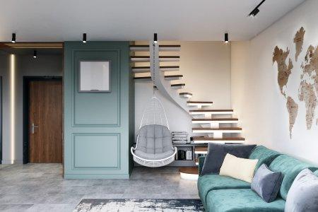 Проект двухуровневой квартиры в ЖК Академ-Парк