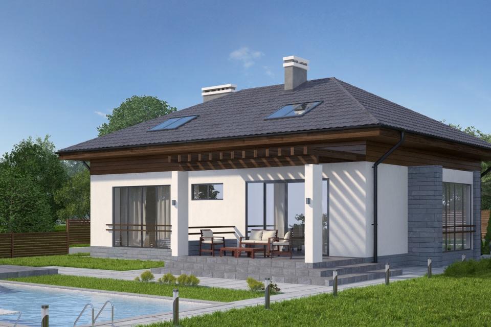Проекти одноповерхових будинків. Проект одноповерхового будинку з ... d5fbab236577c